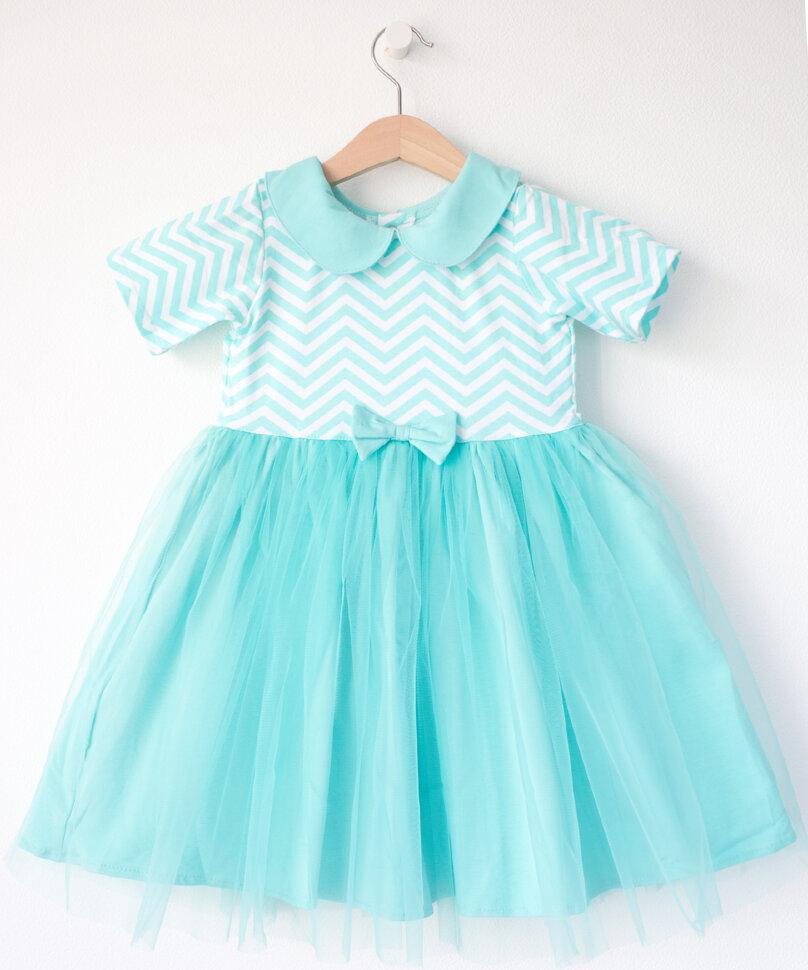 8f8d65971 Платье ментоловое зигзаги – Купить в интернет-магазине детской ...